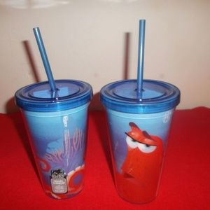 Bundle of two Finding  Dory travel tumblers NWT